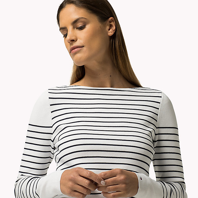 TOMMY HILFIGER Striped Jumper - PEACOAT / CLASSIC WHITE - TOMMY HILFIGER Clothing - detail image 2