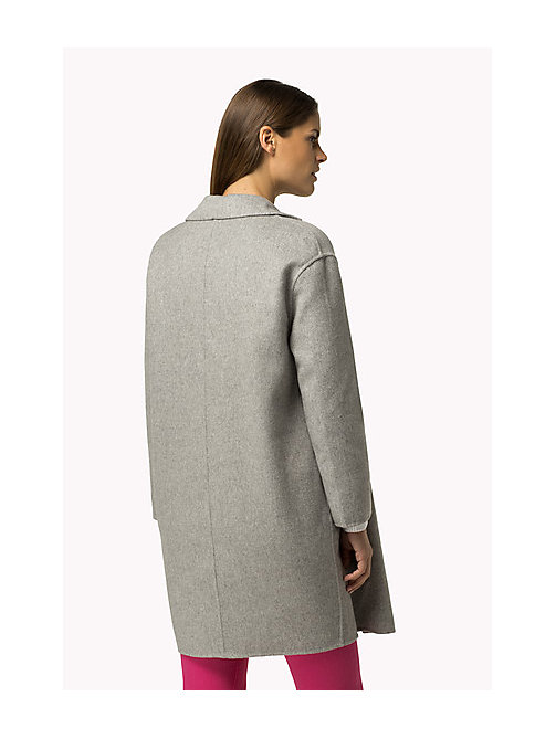 TOMMY HILFIGER Wool Blend Coat - LIGHT GREY HTR - TOMMY HILFIGER Women - detail image 1