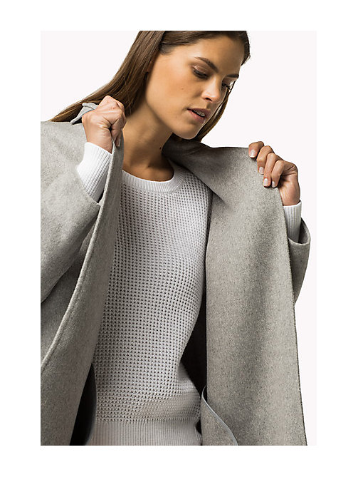 TOMMY HILFIGER Wool Blend Coat - LIGHT GREY HTR - TOMMY HILFIGER Women - main image