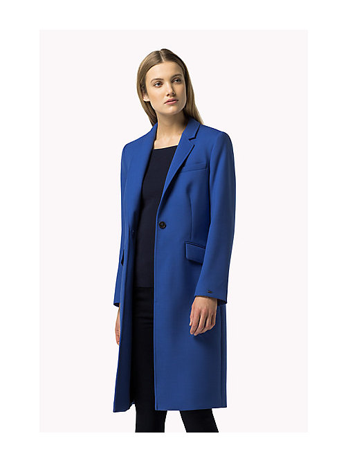 TOMMY HILFIGER Classic Wool Blend Coat - OLYMPIAN BLUE - TOMMY HILFIGER Coats & Jackets - main image