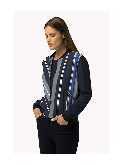TOMMY HILFIGER Striped Bomber Jacket - HELLA STP - TOMMY HILFIGER Women - main image