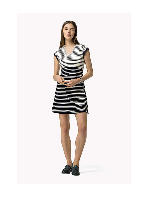 TOMMY HILFIGER Capped Sleeve Dress - PEACOAT / OLYMPIAN BLUE - TOMMY HILFIGER Dresses, Jumpsuits & Skirts - main image