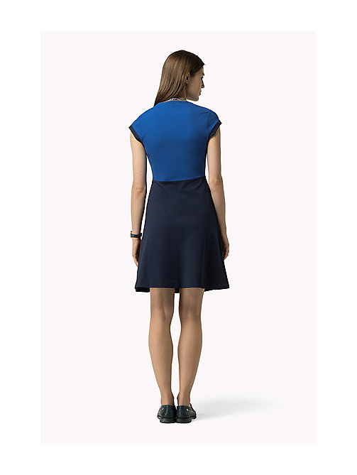 TOMMY HILFIGER Capped Sleeve Dress - HOLLIE STP / PEACOAT / SNOW WHITE - TOMMY HILFIGER Dresses, Jumpsuits & Skirts - detail image 1