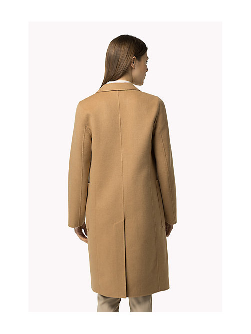 TOMMY HILFIGER Classic Wool Blend Coat - CLASSIC CAMEL - TOMMY HILFIGER Women - detail image 1