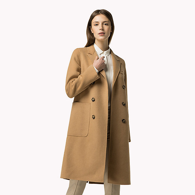 TOMMY HILFIGER Classic Wool Blend Coat - PEACOAT - TOMMY HILFIGER Clothing - main image