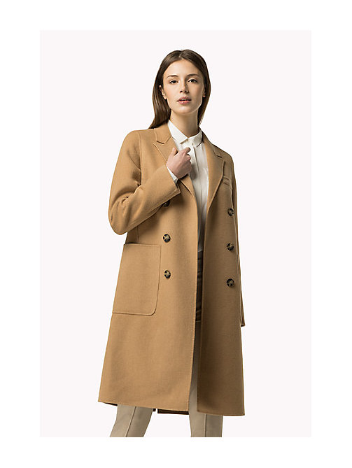 TOMMY HILFIGER Classic Wool Blend Coat - CLASSIC CAMEL - TOMMY HILFIGER Women - main image