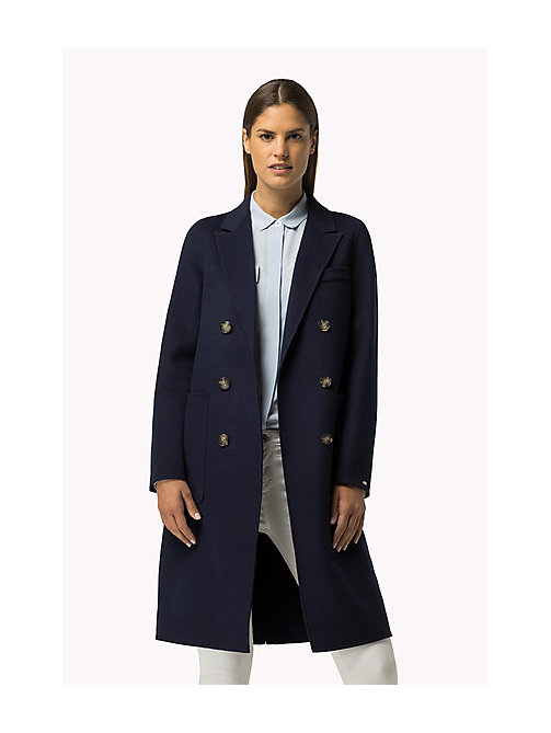 TOMMY HILFIGER Classic Wool Blend Coat - PEACOAT - TOMMY HILFIGER Women - main image