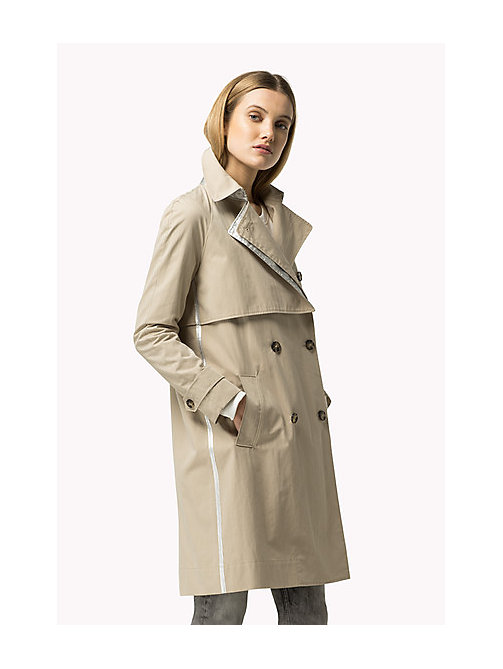 TOMMY HILFIGER Modern Trench Coat - FEATHER GRAY - TOMMY HILFIGER Coats & Jackets - detail image 1