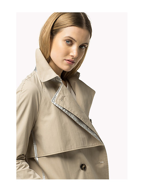 TOMMY HILFIGER Modern Trench Coat - FEATHER GRAY - TOMMY HILFIGER Coats & Jackets - main image