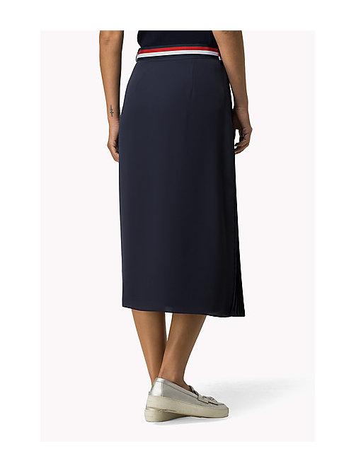 TOMMY HILFIGER Pleated Skirt - PEACOAT - TOMMY HILFIGER Dresses, Jumpsuits & Skirts - detail image 1