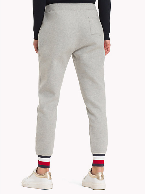 TOMMY HILFIGER Signature Tape Joggers - LIGHT GREY HTR - TOMMY HILFIGER Trousers & Shorts - detail image 1