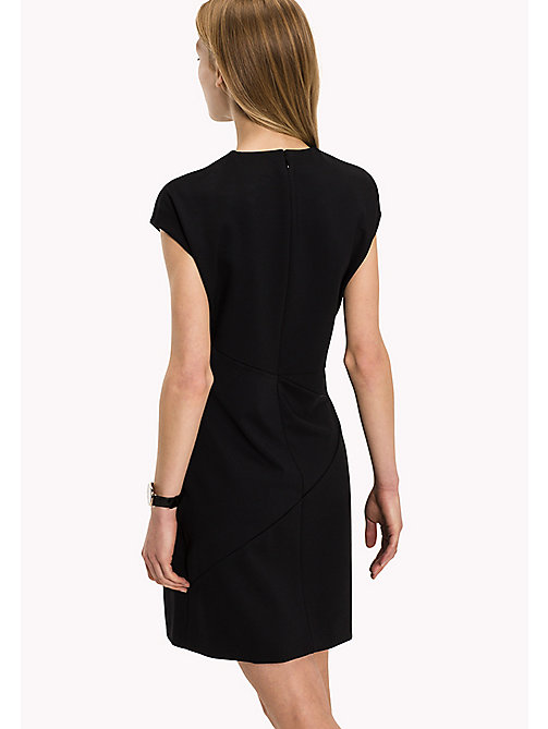 TOMMY HILFIGER Punto Milano Fitted Dress - BLACK BEAUTY - TOMMY HILFIGER Dresses, Jumpsuits & Skirts - detail image 1