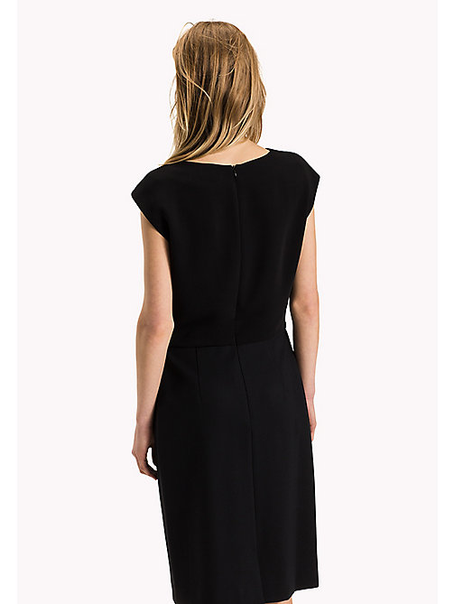 TOMMY HILFIGER Punto Milano Sleeveless Fitted Dress - BLACK BEAUTY - TOMMY HILFIGER Dresses, Jumpsuits & Skirts - detail image 1