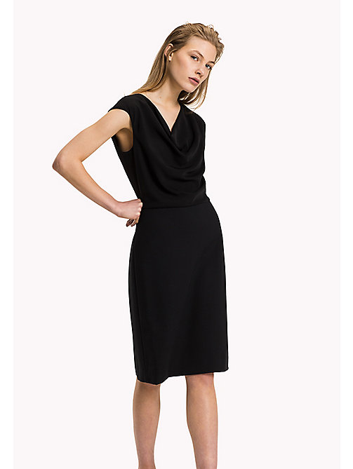 TOMMY HILFIGER Punto Milano Sleeveless Fitted Dress - BLACK BEAUTY - TOMMY HILFIGER Dresses, Jumpsuits & Skirts - main image