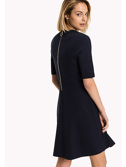 TOMMY HILFIGER Punto di Roma A-Line Dress - MIDNIGHT - TOMMY HILFIGER Women - detail image 1