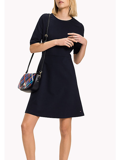 TOMMY HILFIGER Punto di Roma A-Line Dress - MIDNIGHT - TOMMY HILFIGER Women - main image
