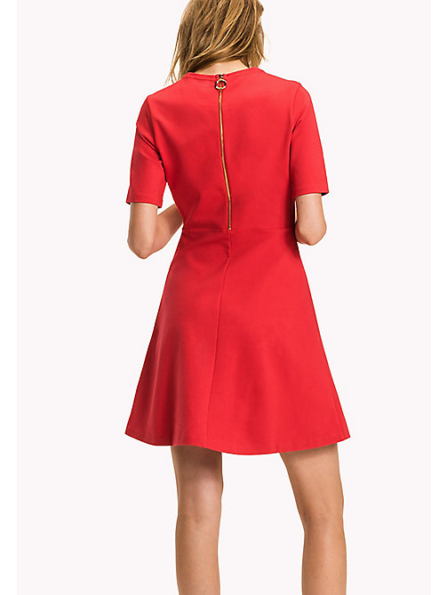 TOMMY HILFIGER Punto di Roma A-Line Dress - TRUE RED - TOMMY HILFIGER Women - detail image 1