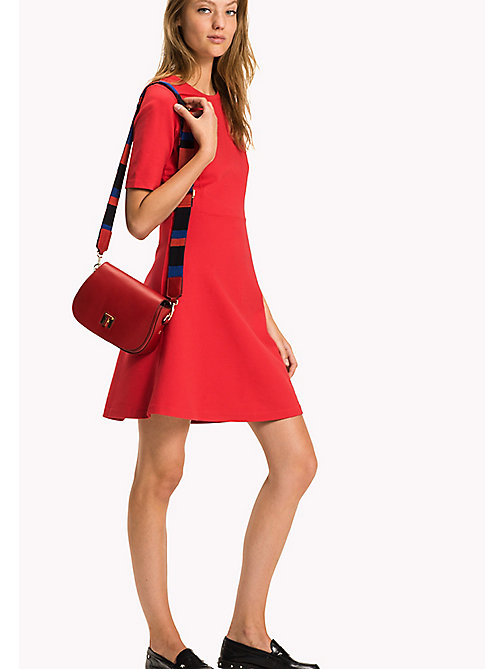 TOMMY HILFIGER Punto di Roma A-Line Dress - TRUE RED - TOMMY HILFIGER Women - main image
