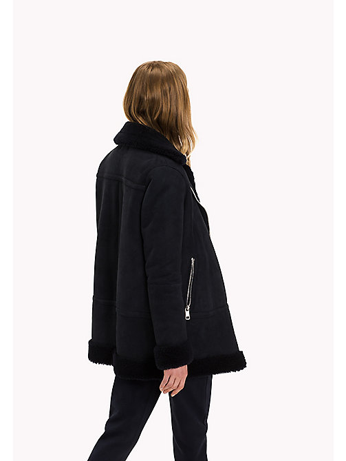 TOMMY HILFIGER Shearling Coat - MIDNIGHT / MIDNIGHT - TOMMY HILFIGER Women - detail image 1