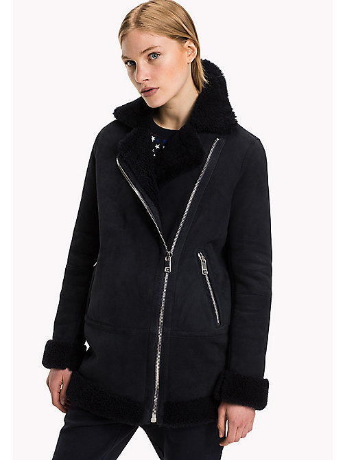 TOMMY HILFIGER Shearling Coat - MIDNIGHT / MIDNIGHT - TOMMY HILFIGER Women - main image