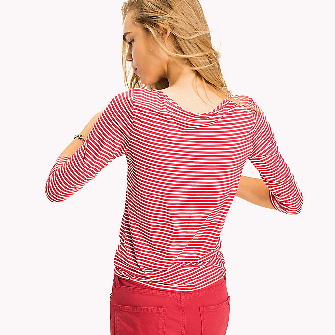 TOMMY HILFIGER Stripe Boat Neck Top - SAMOAN SUN / SNOW WHITE STP - TOMMY HILFIGER Women - detail image 1