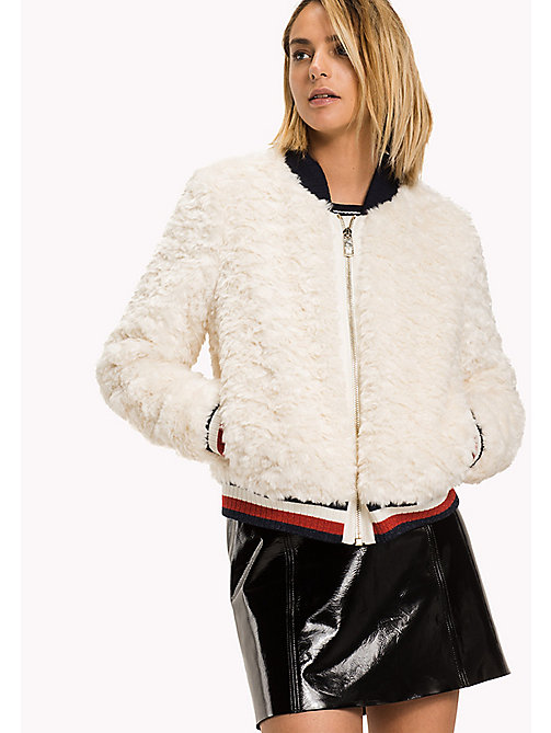 TOMMY HILFIGER Faux Fur Bomber - TAPIOCA - TOMMY HILFIGER Coats & Jackets - main image
