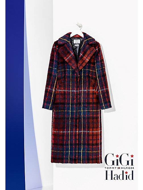 TOMMY HILFIGER Tartan Wool Coat Gigi Hadid - TOMMY TARTAN LARGE RED - TOMMY HILFIGER Women - detail image 1