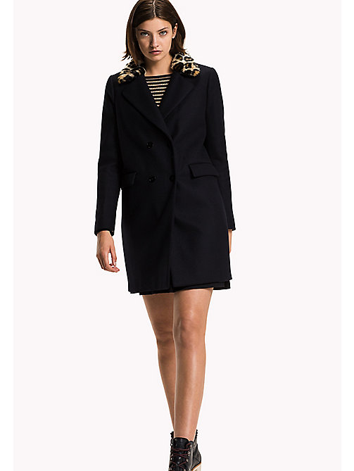 TOMMY HILFIGER Wool Coat - MIDNIGHT - TOMMY HILFIGER Coats & Jackets - main image