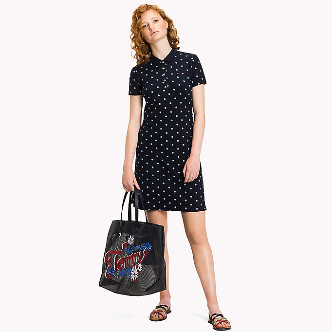 TOMMY HILFIGER Fitted Polo Dress - BUBBLEGUM - TOMMY HILFIGER Women - main image