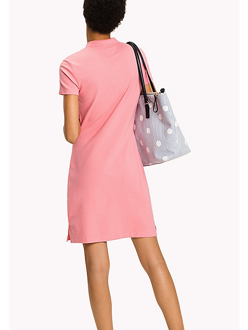 TOMMY HILFIGER Fitted Polo Dress - BUBBLEGUM - TOMMY HILFIGER Dresses - detail image 1