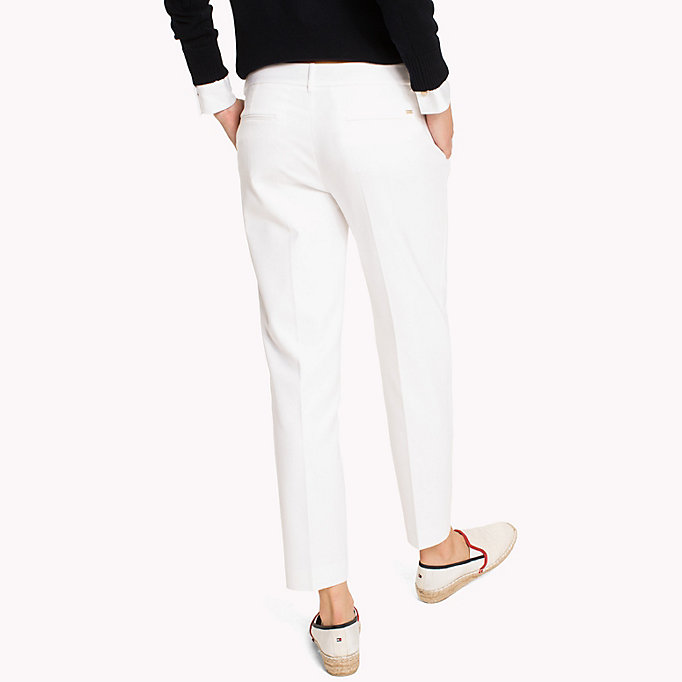 TOMMY HILFIGER Slim Fit Cropped Trousers - MIDNIGHT - TOMMY HILFIGER Women - detail image 1