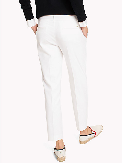 TOMMY HILFIGER Slim Fit Cropped Trousers - CLASSIC WHITE - TOMMY HILFIGER The Office Edit - detail image 1
