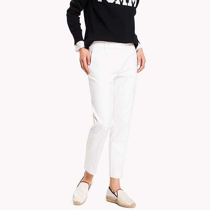 TOMMY HILFIGER Slim Fit Cropped Trousers - MIDNIGHT - TOMMY HILFIGER Women - main image
