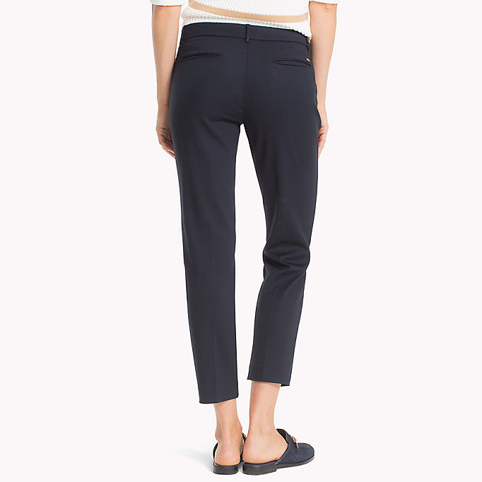 TOMMY HILFIGER Slim Fit Cropped Trousers - FLAME SCARLET - TOMMY HILFIGER Women - detail image 1
