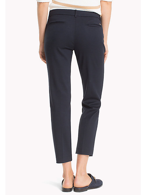 TOMMY HILFIGER Slim Fit Cropped Trousers - MIDNIGHT - TOMMY HILFIGER Cropped Trousers - detail image 1