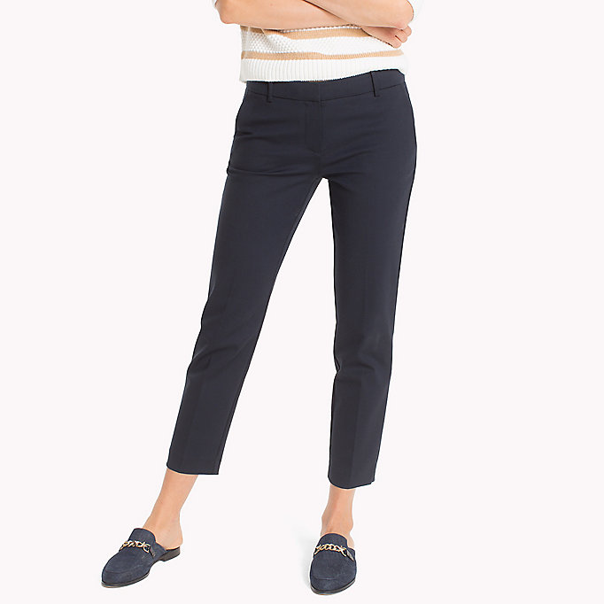 TOMMY HILFIGER Slim Fit Cropped Trousers - FLAME SCARLET - TOMMY HILFIGER Women - main image
