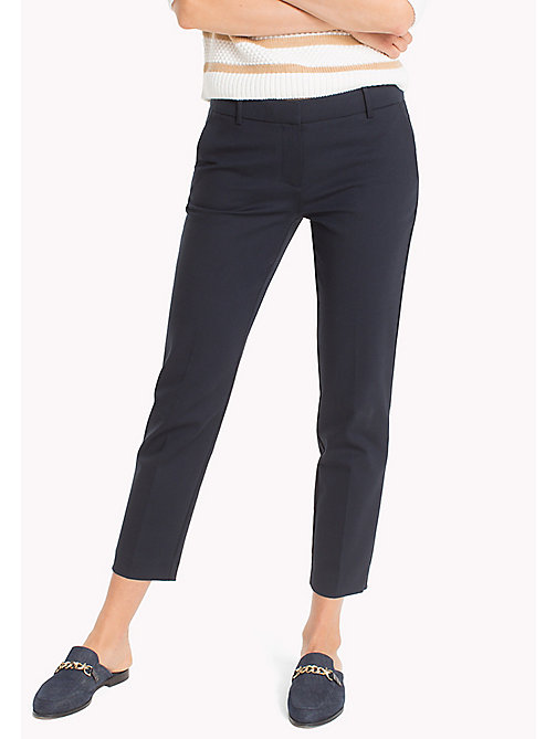 TOMMY HILFIGER Slim Fit Cropped Trousers - MIDNIGHT - TOMMY HILFIGER The Office Edit - main image