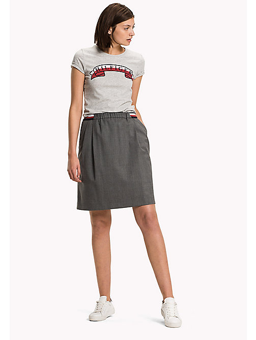 TOMMY HILFIGER Wool Blend Skirt - MEDIUM GREY HTR - TOMMY HILFIGER Dresses, Jumpsuits & Skirts - main image