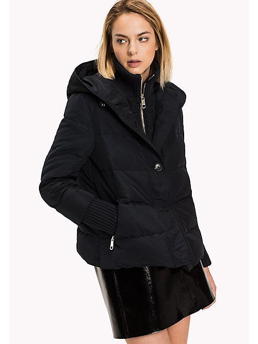 TOMMY HILFIGER Rib Knit Padded Jacket - BLACK BEAUTY - TOMMY HILFIGER Coats & Jackets - main image