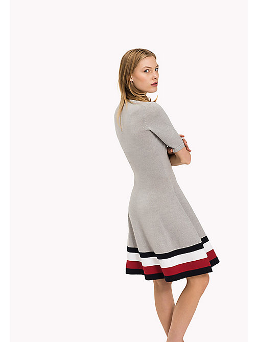 TOMMY HILFIGER Wool Flare Fit Dress - LIGHT GREY HTR - TOMMY HILFIGER Dresses, Jumpsuits & Skirts - detail image 1