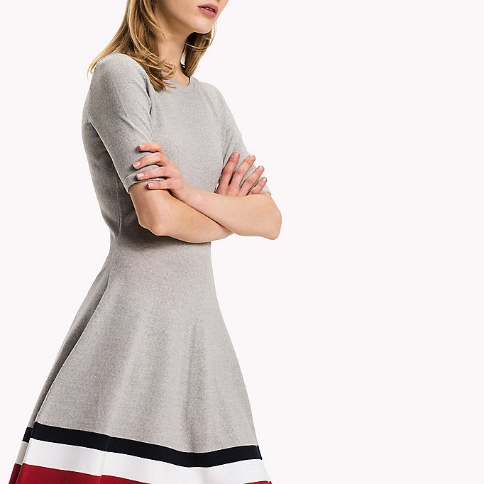 TOMMY HILFIGER Wool Flare Fit Dress - TRUE RED - TOMMY HILFIGER Clothing - detail image 2