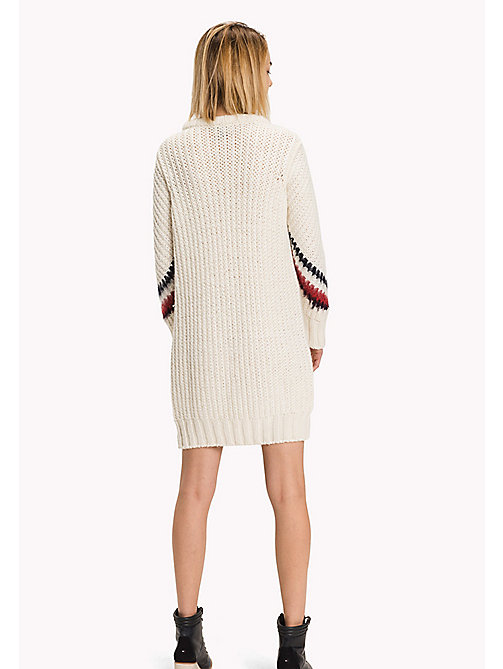TOMMY HILFIGER Wool Blend Comfort Fit Cable Dress - SNOW WHITE - TOMMY HILFIGER Dresses, Jumpsuits & Skirts - detail image 1
