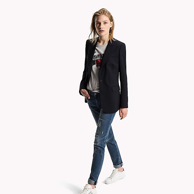 TOMMY HILFIGER Cool Wool Blazer - BLACK BEAUTY - TOMMY HILFIGER Clothing - detail image 2