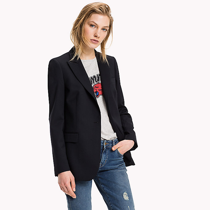 TOMMY HILFIGER Cool Wool Blazer - BLACK BEAUTY - TOMMY HILFIGER Clothing - detail image 3