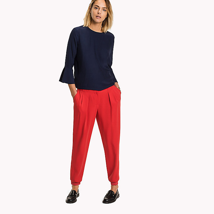 TOMMY HILFIGER Tailored Regular Fit Jogging Trousers - BLACK BEAUTY - TOMMY HILFIGER Clothing - main image