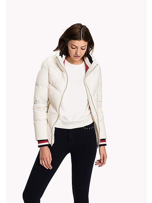 TOMMY HILFIGER Iconic Down Jacket - SNOW WHITE - TOMMY HILFIGER Coats & Jackets - main image