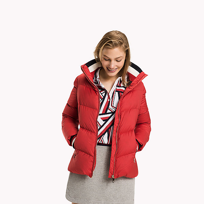 TOMMY HILFIGER Iconic Down Jacket - SNOW WHITE - TOMMY HILFIGER Clothing - detail image 2