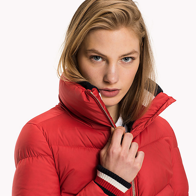TOMMY HILFIGER Iconic Down Jacket - SNOW WHITE - TOMMY HILFIGER Clothing - detail image 3