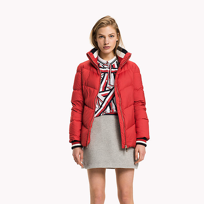 TOMMY HILFIGER Iconic Down Jacket - SNOW WHITE - TOMMY HILFIGER Clothing - main image