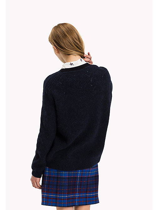 TOMMY HILFIGER Wool Blend Crew Neck Jumper - MIDNIGHT - TOMMY HILFIGER Women - detail image 1